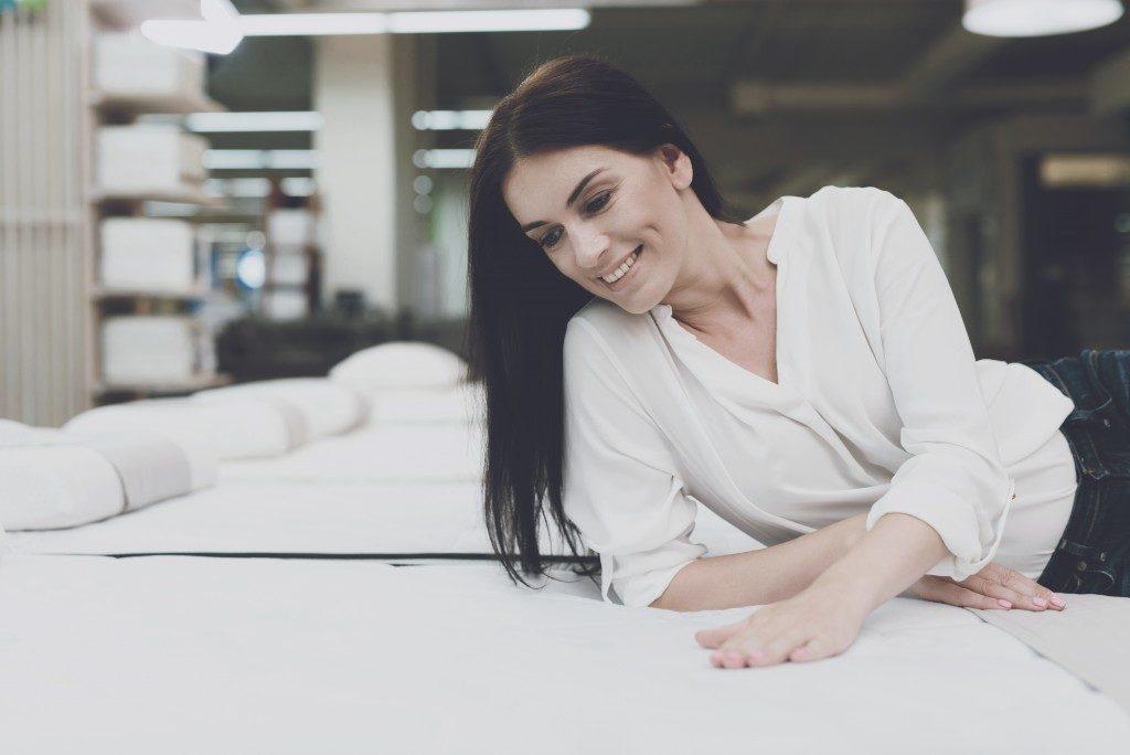 Woman on a mattress