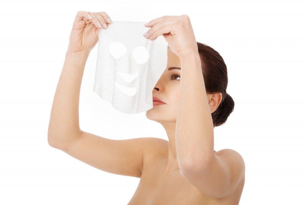 a collagen mask