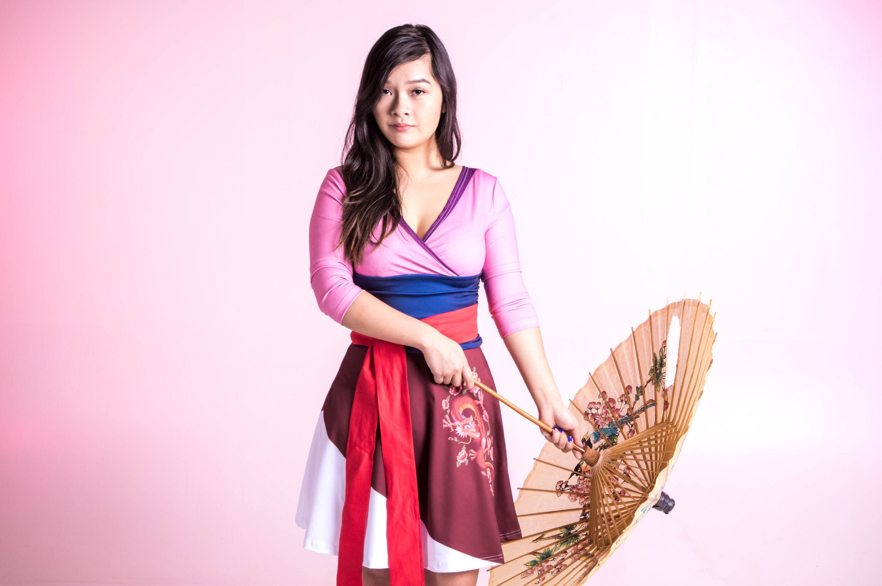Asian woman in traditional attire