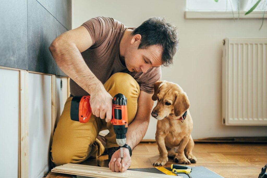 guy repairing