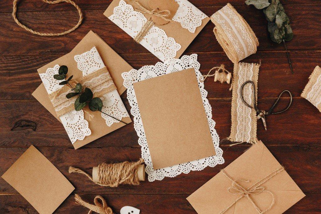 materials for wedding invite