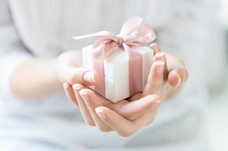 close up photo of a gift box