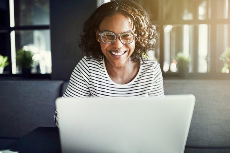 woman working