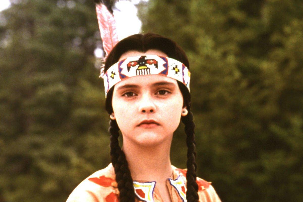 Wednesday in native costume